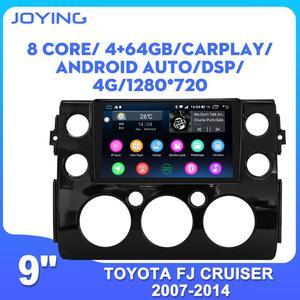 Автомагнитола 9 дюймов с GPS-навигацией, IPS-экраном 9 дюймов, BT для Toyota FJ Cruiser 2007-2014, без DVD-плеера
