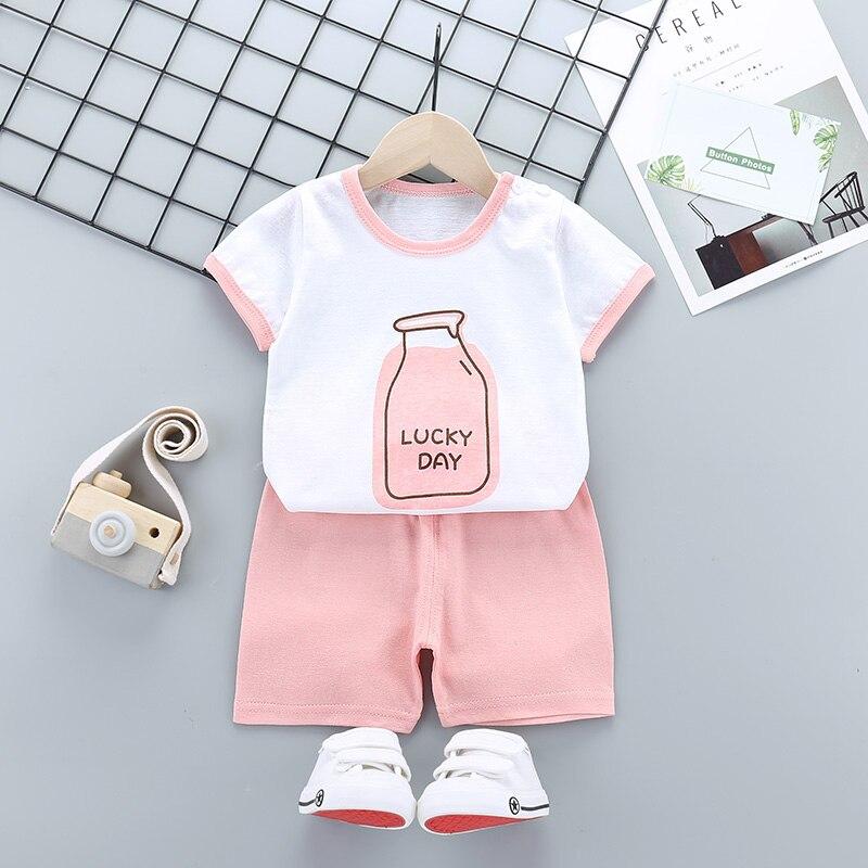 Toddler Kid Baby Boy Girl Cartoon Rabbit Hoodie Sweatshirt Tops+Pants Set Cloth