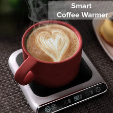 5V Cup Heater Smart Thermostatic Hot Tea Makers 3 Gear USB Charge Heating Coaster Desktop Heater for Coffee Milk Tea Warmer Pad(China)