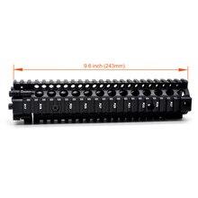 TriRock 9.6 inch Tactical Black Anodized MK18 Handguard Quad Rail Split Mount System Aluminum Fit.223/5.56