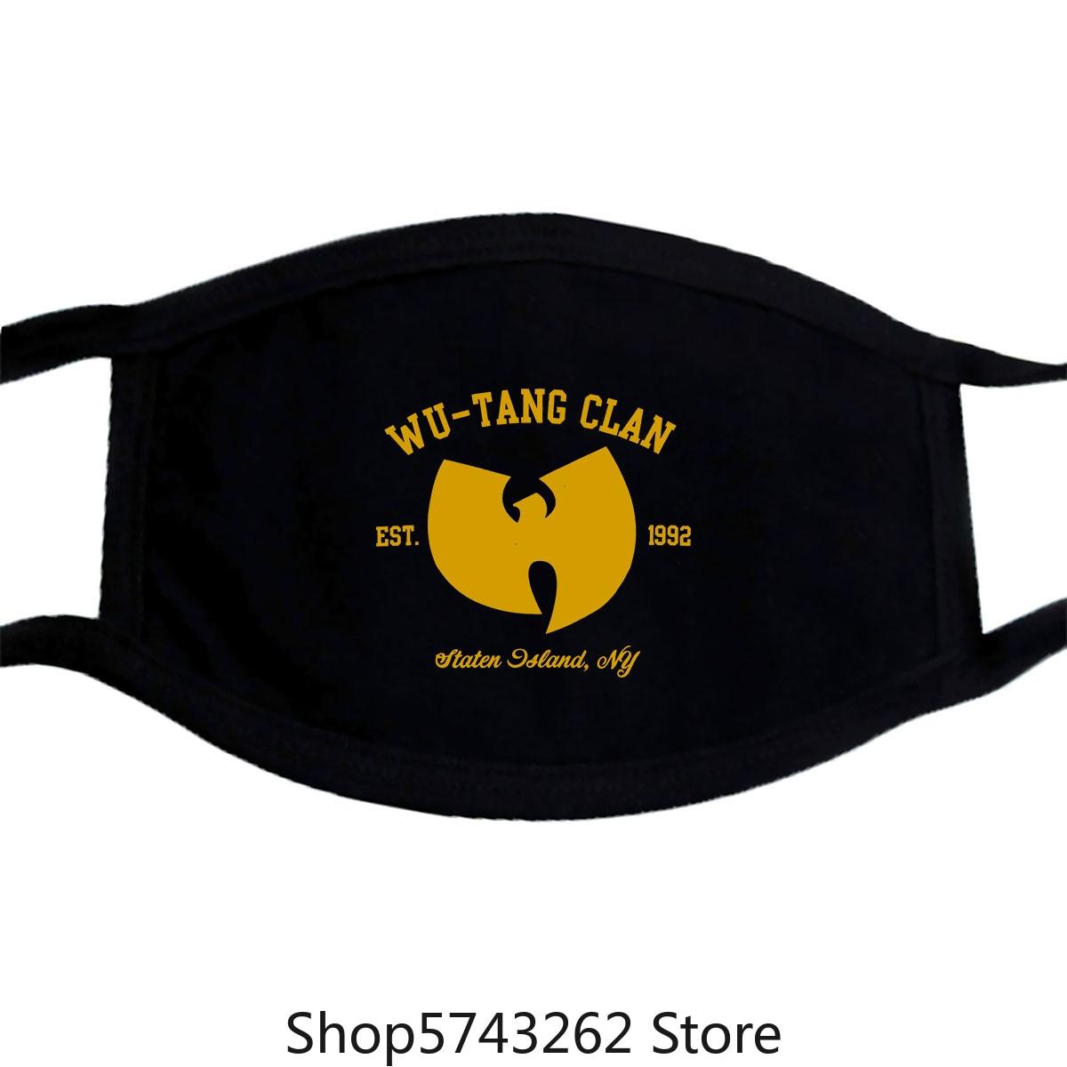 Wu Tang Clan Mask Tee Hip Hop Mc Rza Gza Odb Method Man Raekwon Rap Mens Washable Reusable Mask With