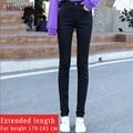 2020 frühling Frauen Casual Hosen Neue Stil 170 Hoch Extended Schwarz Jeans frauen 175 Mädchen Lange Bleistift Denim Hosen länge 110cm