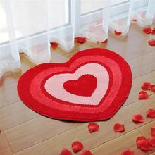 Floor Rug Decorative Double Hearts Front Door Mat Floor Carpet for Wedding