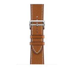 Image 4 - 革シングルツアー展開バックルappleの腕時計6 5 4 3 2バンド44ミリメートル40ミリメートル時計バンドハーム島のロゴiwatch accessoreis