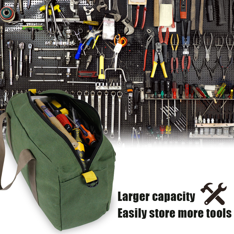 405*200*240mm Multifunction Canvas Hand Tool Storage Bag Screwdrivers Pliers Metal Hardware Parts Organizer Pouch Portable Toolk