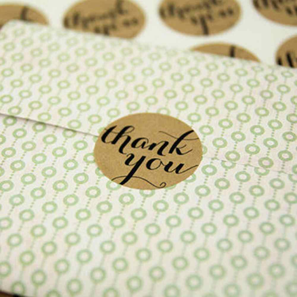12 Pcs/folha Obrigado amor auto-adesivo adesivos etiquetas de papel kraft etiqueta da etiqueta Doces/DIY Para feitas à mão Bolo de Presente