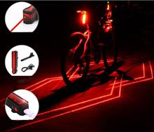 GIYO Bike Light Front Rear Safety Warning Bicycle Folding Laser USB Rechargeable Tail Waterproof