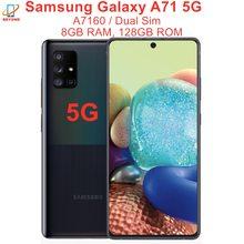 Oryginalny Samsung Galaxy A71 5G A7160 Dual Sim 8GB RAM 128GB ROM 6 7 #8222 Exynos Octa Core poręczny 4 Kamera NFC poręczny tanie tanio Inne 6 67 Nie odpinany KR (pochodzenie) Odnowiony Android W-ekran rozpoznawania linii papilarnych Cdma Wcdma Cdma2000