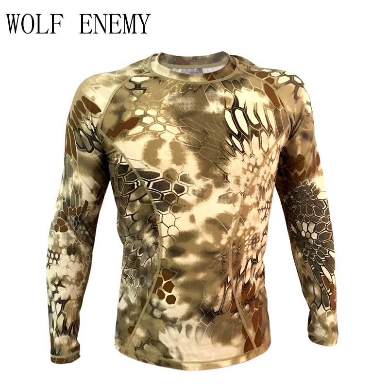 Kryptek Tight Compression Army T-shirt Typhon Long Sleeve Tactical Shirt Breathable