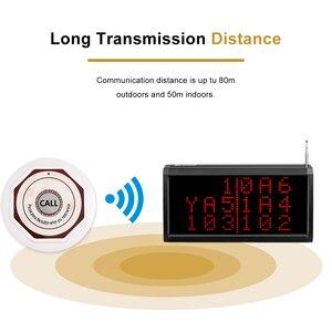 Image 3 - Retekess çağrı müşteri hizmetleri kablosuz çağrı sistemi sesli rapor alıcı konak + 10 adet çağrı düğmesi restoran çağrı cihazı