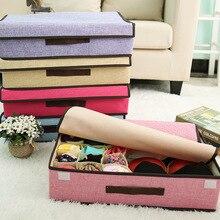Cotton and Linen Storage Box Multi-function Folding Storage Box Storage Box Underwear Socks Finishing Box Storage Basket