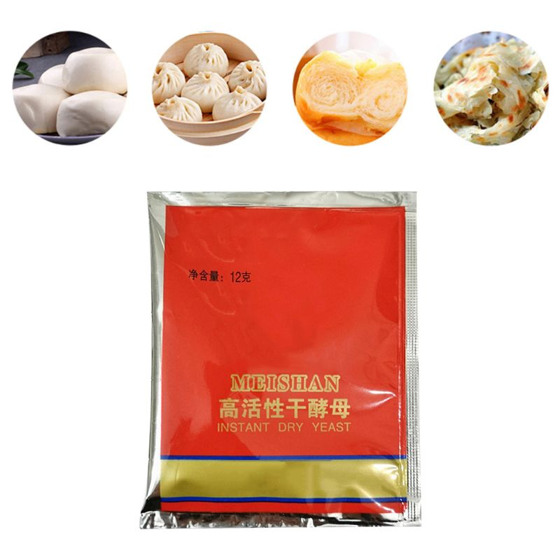 60g Kitchen Baking Supplies Bread Yeast High Glucose Tolerance Active Dry Yeast Essential Ingredients For Cake Making