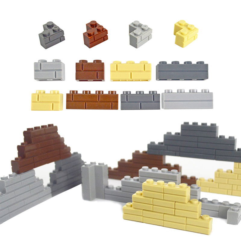 MOC Accessories Doors Windows DIY Building Blocks Thick Wall Bricks 1x2 1x3 1x4 Dots Educational Compatible Legoed Toys For Kids