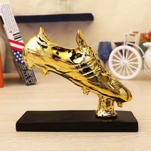 Football Match Soccer Fans Souvenir GOLD shoe Trophy Creative resin Craft Gold Plating Home Furnishing Articles decoration model