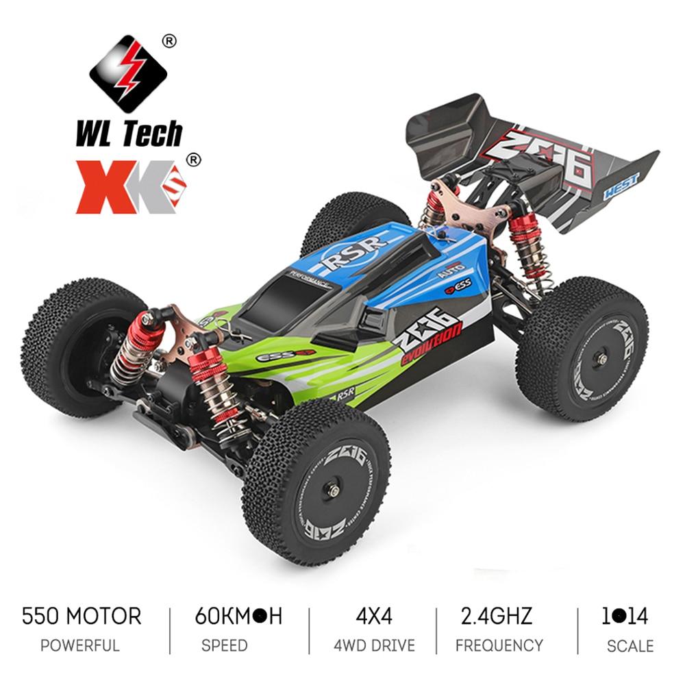 Wltoys XKS 144001 1/14 coche RC 60 Km/h de alta velocidad RC coche de carreras de 2,4 GHz RC Buggy 4WD 550 Motor RC-derrape en carretera coche RTR