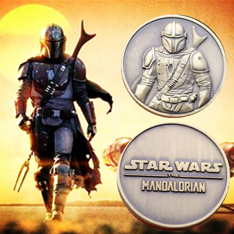 Movies TV Shows Star Wars 9 The Rise Of Skywalker Mandalorian Commemorative Coin Alloy Collectible Toys Christmas Halloween Gift