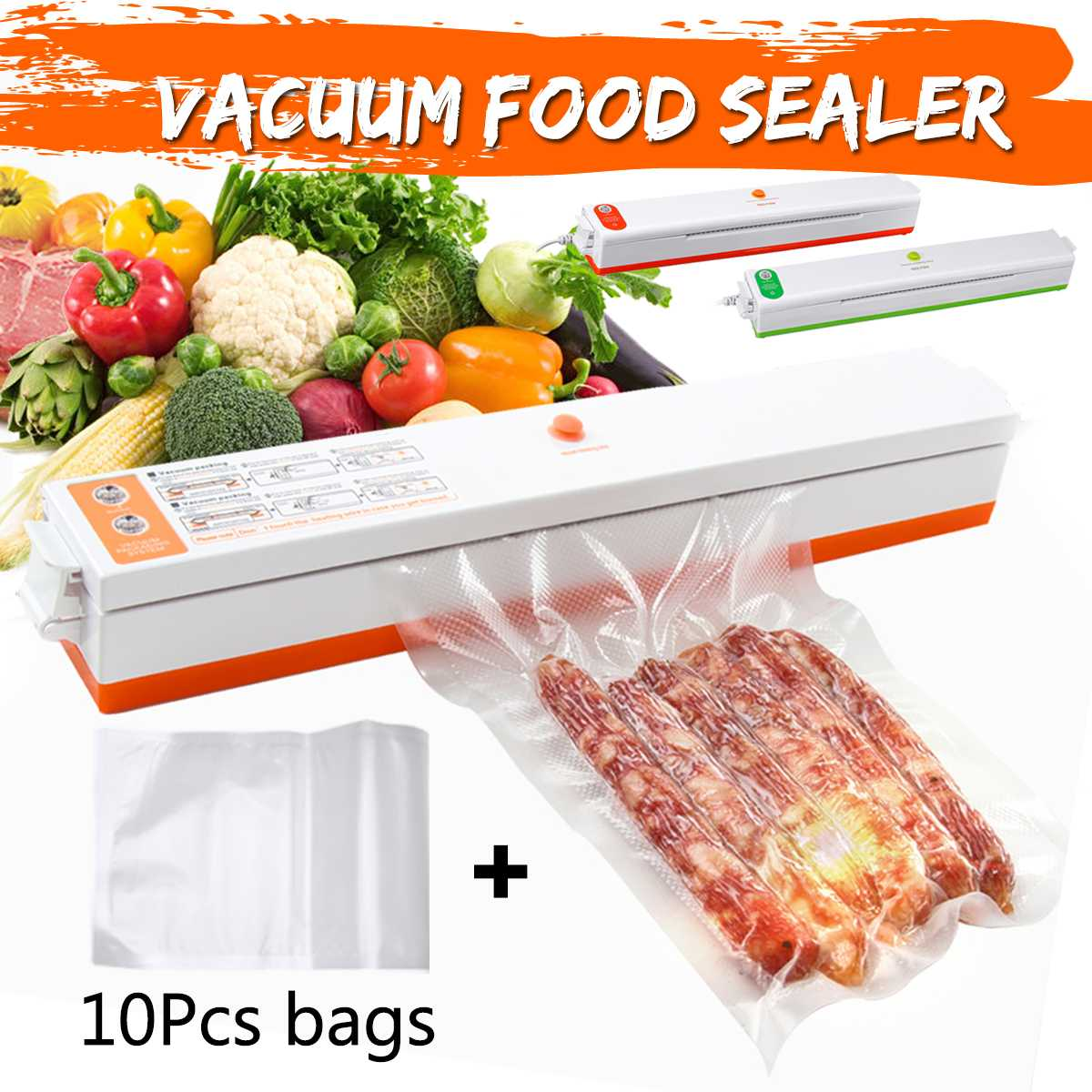 Household Food Sealer Saver 220V Vacuum Food Sealer Machine Vacuum Sealing Machine Film Container Include With Vacuum Packer