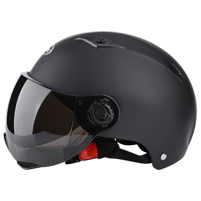 Motorcycle Helmets Half Helmet Scooter Motor Crash Helmet Bye Helmets for Moto Bike Sunshade Sun Protection Summer Unisex Abs 1
