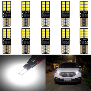 10Pcs W5W T10 LED Canbus Bulb 168 Car Clearance Interior Lights For Audi BMW Mercedes Toyota Error Free Automobiles LED 12V DC