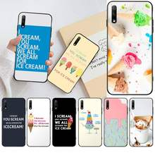 HPCHCJHM We All Scream For Ice Cream Cover Black Soft Shell Phone Case for Huawei Honor 30 20 10 9 8 8x 8c v30 Lite view pro(China)