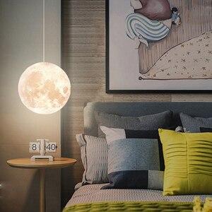 Image 3 - Wisiorek z księżycem światła Globe nocna klosz do lampy wystrój sypialni chambre fille bebe Creche żyrandol dzieci Planetarium dzieci pokój