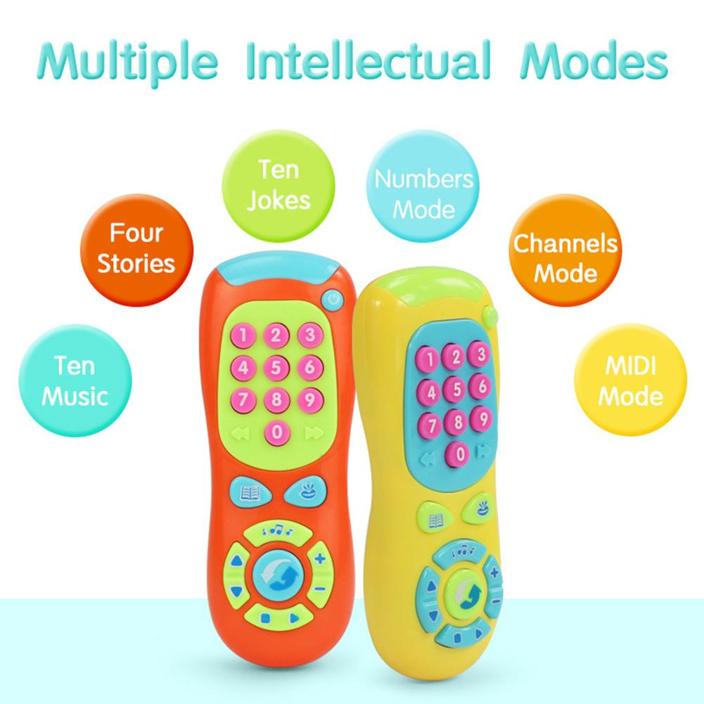 Multifunction Simulation TV Remote Control Music Stories Kids Educational Toy Electric Numbers Remote Toy