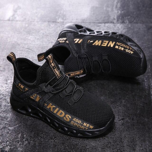 Zapatillas de malla para niños, zapatos ligeros, informales, transpirables, antideslizantes, size26-39 3