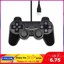 Manette de jeu filaire USB pour WinXP/Win7/Win8/Win10 pour ordinateur portable noir manette de jeu