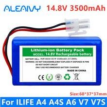 Batterie lithium-ion Rechargeable, 100% V, 14.8 mAh, pour aspirateur Robot ILIFE A4, A4s, V7s, A6, V7s plus, nouveauté, 3500