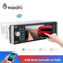 Podofo شاشة تعمل باللمس 1din autoradio 12 فولت راديو السيارة بلوتوث سيارة مشغل إستريو AUX IN MP3 FM/USB في اندفاعة سيارة الصوت التحكم عن بعد