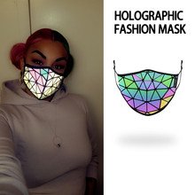 Fashion Anti Dust Mouth Mask Luminous Adjustable Face gear set Unisex filter 3D Geometric Free Breath
