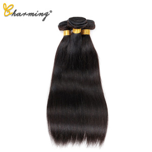Image 5 - CHARMING Straight Bundles With Closure Brazilian Hair Weave Bundles With Closure Human Hair Bundles With Closure Hair Extension