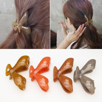 1 PC Women Hair Claw Crab Clamp Girls Plastic Large Ponytail Clip Pure Color Hairpin Claws Clamp Headwear Hair Accessories New