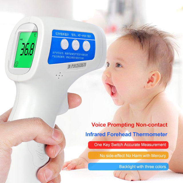 Cofoe  Forehead Thermometer Non Contact Infrared Thermometer Body Temperature Fever Digital Measure Tool for Baby Adult 3
