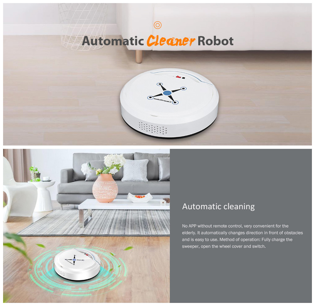 He7629f4d6fa84051baa5540f17a2fcb06 Automatic Smart Robot Vacuum Cleaner Small Vacuum Cleaners Sweeping Robot Floor Dirt Auto Home USB Rechargeable Cleaning Machine