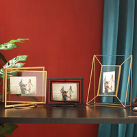 Рамка для фотографий металлическая настольная креативная вращающаяся декоративная фоторамка с прозрачным стеклом Свадебные Семейные фот...