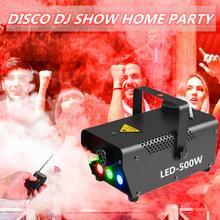 500W Rookmachine Mist Effect Rookmachine Disco Dj Party Met Afstandsbediening Kleurrijke Led Stage Fogger Spuit Mini fog Ejector