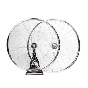 700C велосипедная оправа fixie велосипедная оправа колеса с шинами серебристого цвета 20 мм колесо Односкоростной велосипед Винтажный велосипе...