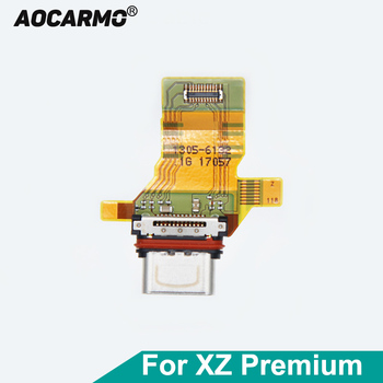 Aocarmo USB Connector Type-C Charger Charging Port Dock Flex Cable For Sony Xperia XZ Premium XZP G8142 G8141 Fast Shipping