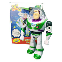 Toy Story 4 Buzz Lightyear Doll Walk Light and Sound Action Figure Hot Toys Kid for Christmas Gift
