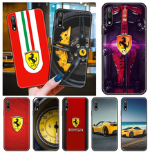 Capa de telefone para huawei honor 9x 9 8x 8a 8s 10 i 7x 7a 20 a lite pro preto capa para carro silicone sportiva italiana ferrari