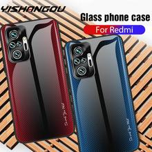 Gradient Painted Case For Xiaomi Redmi Note 10 9 8 Pro 10s 9s K40 Tempered Glass Cover For Mi 11 Poco X3 F3 10T Lite Note 10 Pro