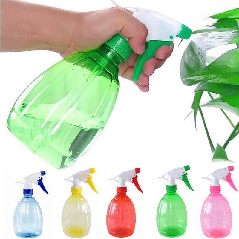 ใหม่ 1PC 500ml สเปรย์ขวดรดน้ำ Sprinkler ทำความสะอาดพลาสติกรดน้ำดอกไม้เปล่าหม้อดอกไม้ Sprinkler สูงคุณภาพ