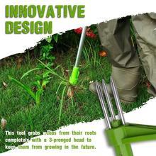 Stały środek do usuwania korzeni roślin długi z odpinanym kapturem uchwyt do chwastów na trawnik ogrodowy Yard Grass ściągacz przycinanie narzędzia tanie tanio isfriday NONE CN (pochodzenie) Z aluminium