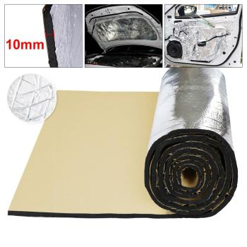 UXCELL 10mm Thick Aluminum Fiber Automobile Car Fender Engine Heat Sound Proof Deadener Insulation Mat