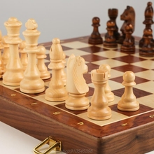 Chess Solid Wood Set Large Children's Wooden Folding Chessboard Special For Chess Game A22 21 Dropshipping