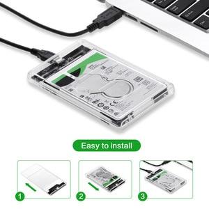 Image 2 - OULLX 2.5 นิ้ว HDD Case Transparent SATA to ประเภท C USB3.1 อะแดปเตอร์ไดรฟ์ SSD Disk กล่อง HD ภายนอก HDD Enclosure
