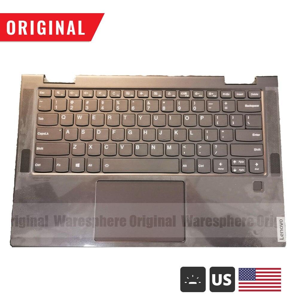 Nouveau repose-main d'origine avec clavier rétroéclairé américain pour Lenovo Yoga C740-14 C740-14IML