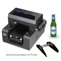A3 УФ принтер Светодиодный УФ печатная машина для чехол для телефона цилиндрическая бутылка металл стекло дерево ТПУ принтер с бесплатным д...