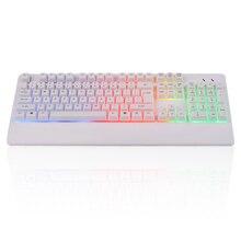 Professional R400 USB Wired Keyboard Rainbow Backlight Keyboard with 104 Keys for Laptop Desktop Gaming Keyboard стоимость